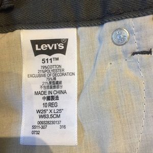 Levi's Bottoms - Boys Levi's 511 Slim Grey Jeans Brand New